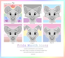 Pride Icon YCHs!! -UNLIMITED SLOTS!! by Kitchiki