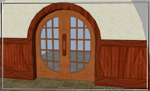Round French Pocket Doors by Mann-of-LaMancha