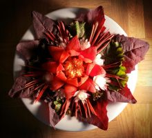 FoodCarving - Paprika Lotus 01 by XResch