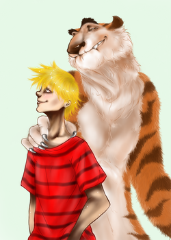 Calvin and Hobbes by PawsforHead