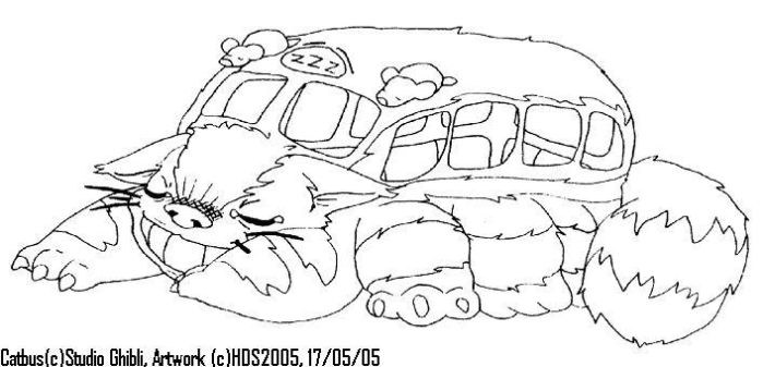 Sleeping Catbus by raygirl