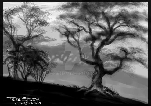 Dark Trees by m99art