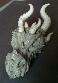 Dragon skull WIP by Bakenekoya