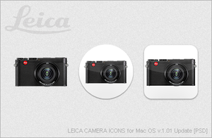 LEICA CAMERA ICONS for Mac OS v1.01 Update [PSD] by EZBOI