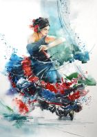 Speed Paint - The Dancer by Jay Alam by Abstractmusiq
