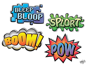 Action Word Stickers by zarry