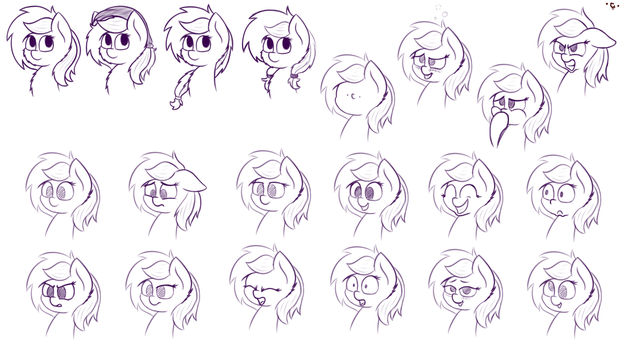 Expressions And Hair by PrismStreak