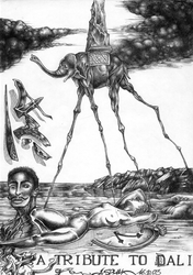 A tribute to Dali by asphyx0r