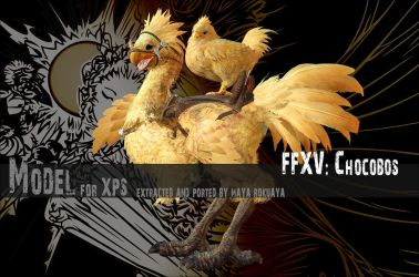 XPS: FFXV - Chocobos by MayaRokuaya