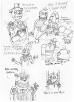 FNAF4 Nightmares silly sketches by AllyN-One