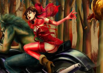 Naughty Fairytale : Red by sorceressmyr