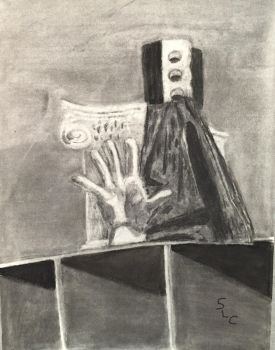 Final Class Charcoal Drawing by WordWrite67