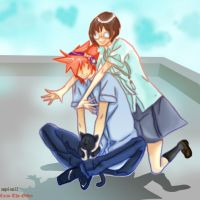 TWEWY - Rooftop Romance - Collab w/ Caim-the-Order by angel-oni13