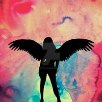 Girl with wings by nikkeetah