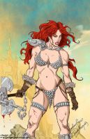 Red Sonja - coloring commissio by mhunt