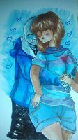 Sans x older frisk by sSflowerSs