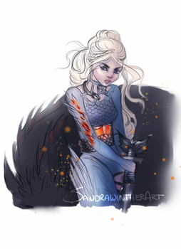 Warrior Dany sketch by SandraWinther