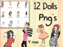 12 Dolls PNG'S StiloJuliii by StiloJuliii