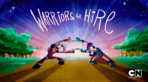 Mighty Magiswords Title Card 1 - Warriors For Hire by AronDraws