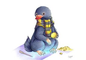 + Hufflepuff - The Niffler + by DorkWolf-Nightmare