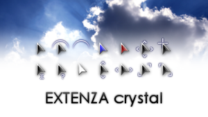 EXTENZA crystal cursors by DanFox