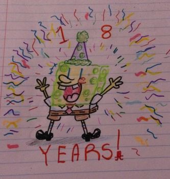 Happy 18th Anniversary, Spongebob! by K1NG-KR3B