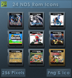 NDS Roms [Cartridge Icons] by VoidSentinel
