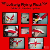 LOZ Loftwing Flying Plush FOR SALE Commish open by Ishtar-Creations