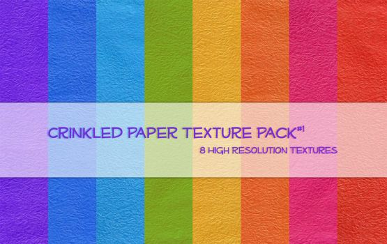 Crinkled Paper Texture Pack1 by powerpuffjazz
