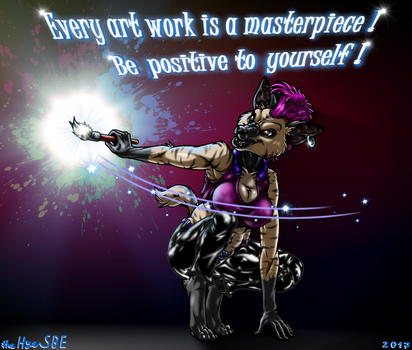 Be Positive - [COMMISSION] by theHyenasSBE