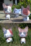 Three Kittens - Papercraft by Lyrin-83