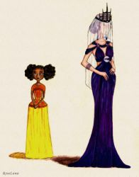 TLC: Princess Winter and Queen Levana by RoseLuna