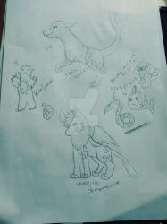 All the adopted egg sketches by Stormdeathstar9