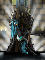 Chrysalis and the Iron Throne by Holka13