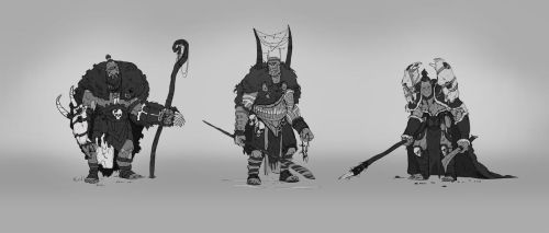Orc Shaman - Line drawing selects by LawtonLonsdale