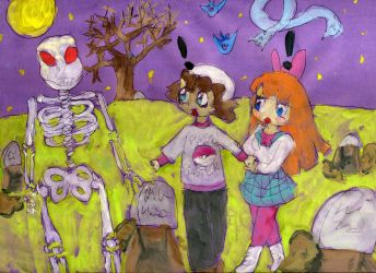 Spooky scary skeletons by TaintedTruffle