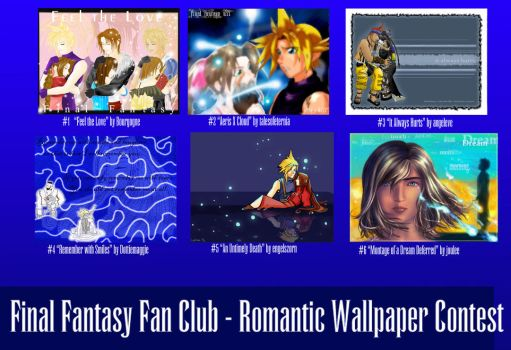 FFFC Romantic Wallpaper Table by finalfantasyfan