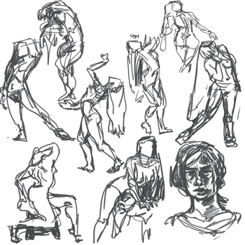 figure drawing saturday??? by ThePinkTroll