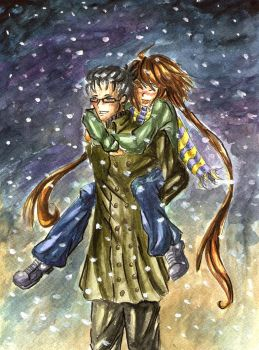 In cold winter nights by Hikari-chyan