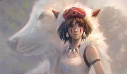 Princess Mononoke by chaosringen