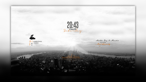 Conky Vision(Rainmeter)  by HipHopium