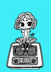 Video killed the radio star- LINEART by sat-s