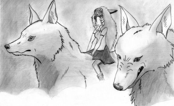 San with wolves by elChupaLibre99
