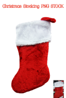 Christmas Stocking PNG STOCK by KarahRobinson-Art