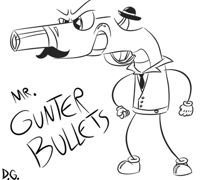 Cuphead OC Boss - Mr. Gunter Bullets! by DrawnGuy by DrawnGuy