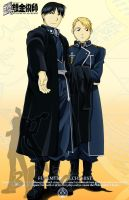 Roy and Riza: Postcard (Manga version) by 3Pride