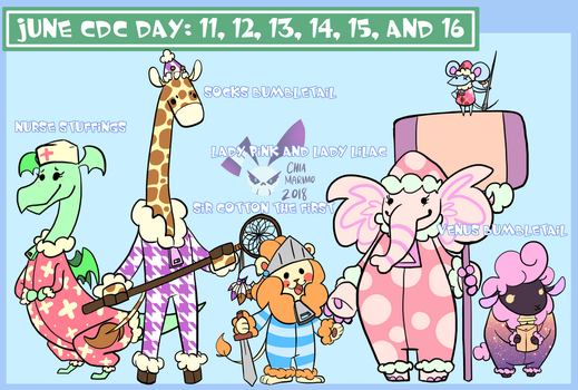 June CDC Day: 11, 12, 13, 14, 15, and 16 by Chiamarimo