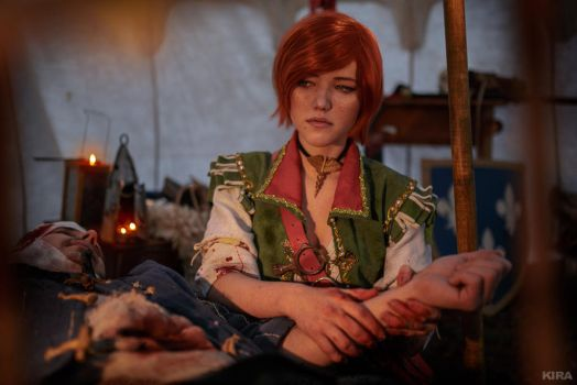 The Witcher 3 Shani cosplay (frame 19) by Lyumos