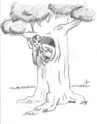 Dryad in a Tree by gingersketches