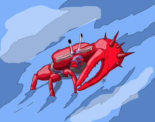 Harold the Giant Fiddler Crab by GalaxyZento